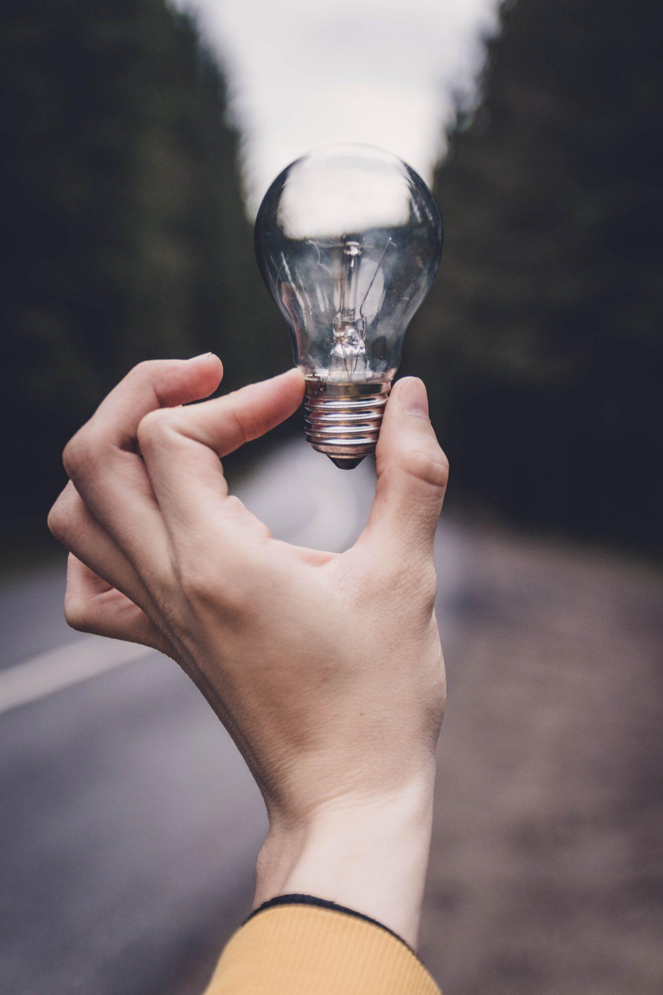 la lumière à portée de main